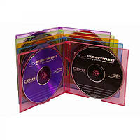 Коробка для хранения дисков  на 2 CD - тонкий - цветной - упаковка 10 шт..