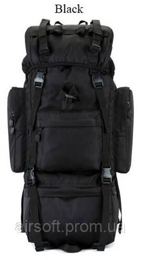 Тактический рюкзак 70 литров черный
