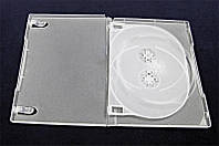 Коробка для хранения дисков  на 3 DVD - бесцветный матовый - 14 MM