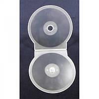 Коробка для хранения дисков  на 1 CD/DVD - 5MM - корпус - бесцветный MAT
