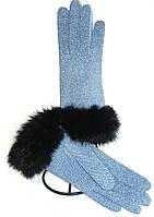 Перчатки кожаные женские эксклюзивные с опушкой кролик
