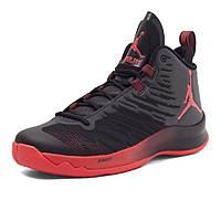 Баскетбольные кроссовки Air Jordan Super Fly 5 Black/Red Реплика, фото 1