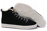 Зимние мужские высокие кроссовки Adidas Runsom Fur, Адидас с мехом черные
