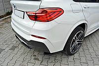 Боковые накладки на задний бампер тюнинг обвес BMW X4 F26 M Sport Paket