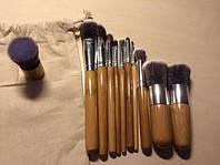Набор кистей для макияжа   11 штук (в мешочке)