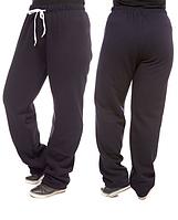 ТЕПЛЫЕ брюки больших размеров женские на флисе зимние прямые темно синие Украина 209-03