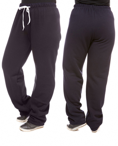ТЕПЛЫЕ брюки больших размеров женские на флисе зимние прямые темно синие Украина