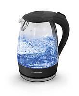 Электрический чайник ESPERANZA стеклянный SALTO ANGEL 1.7 L черный