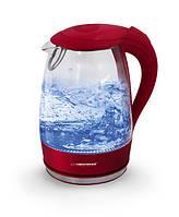 Электрический чайник ESPERANZA стеклянный SALTO ANGEL 1.7 L красный