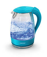 Электрический чайник ESPERANZA стеклянный SALTO ANGEL 1.7 L бирюзовый