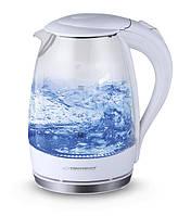 Электрический чайник ESPERANZA стеклянный SALTO ANGEL 1.7 L белый