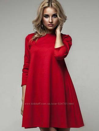 Платье-трапеция в расцветках Увеличенный размерный ряд, фото 2