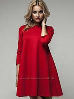 Платье-трапеция в расцветках Увеличенный размерный ряд
