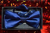 Однотонная бабочка-галстук.