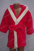 """Детский халат махровый для девочки """"Зайчик"""" с ушками красный, фото 1"""