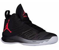 Баскетбольные кроссовки Air Jordan Super Fly 5 Black/White Реплика, фото 1