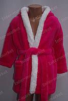 """Детский халат махровый для девочки """"Зайчик"""" с ушками розовый, фото 1"""