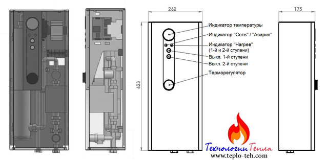 Строение котла Тенко Стандарт