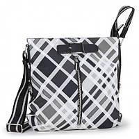 Женская сумка Dolly 628-50641 планшет модная молодежная на ремне в клетку
