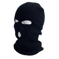 """Шапка-маска """"Балаклава"""" зимняя (двойная вязка) черная,зеленая"""