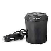 Универсальное зарядное устройство от прикуривателя ESPERANZA 2GN/2USB CUP