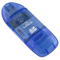 Картридер TITANUM TA101B SDHC синий