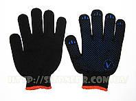 Перчатки полиэстеровые вязаные с ПВХ точкой 9511