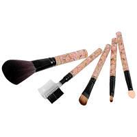 Набор макияжных кистей с цветными ручками, 5 предметов (в ассорт.)