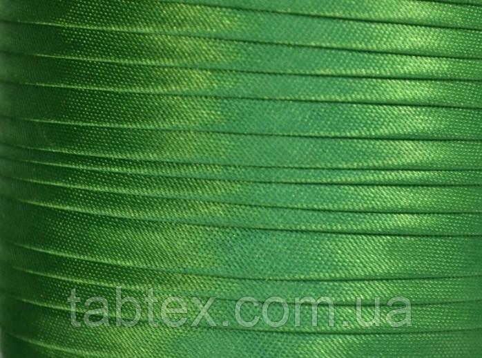"""Бейка косая """"Kotex""""№8050(зеленый) атласная 110 ярд. (100,60 м)"""