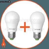 """Eurolamp Промо-набор EUROLAMP LED Лампа A50 7W E27 3000K акция """"1+1"""""""