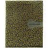 Дневник для ученицы, школьный обложка из кожезаменителя мягкая, (растительный орнамент золотой, фон - черный). MB102667