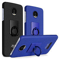 Пластиковый чехол Imak с кольцом-подставкой для Motorola Moto Z (2 цвета)