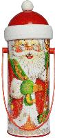 """Новогодний картонный тубус """"Дед Мороз"""" средний"""