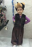 Детский новогодний костюм Мишка темно-коричневый от 3 до 7 лет