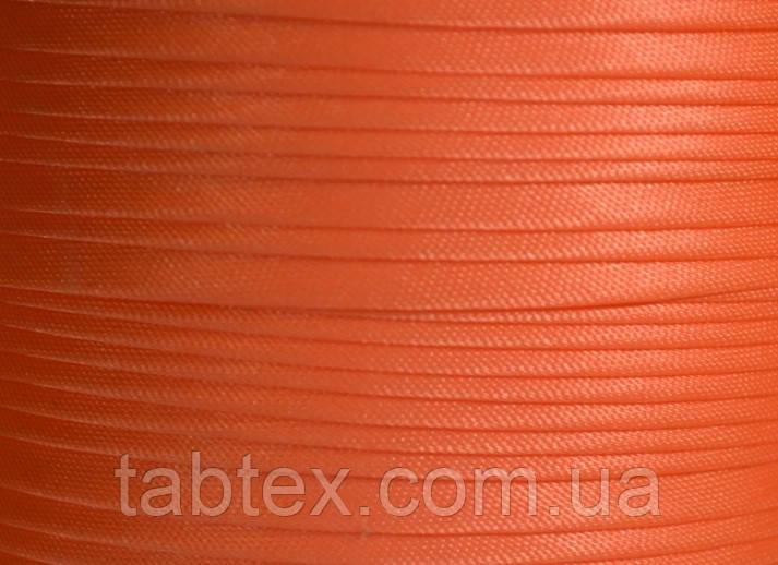 "Бейка косая ""Kotex""№8128(оранжевый неон) атласная 110 ярд. (100,60 м)"