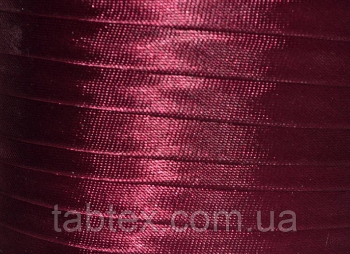 """Бейка косая """"Kotex""""№8138(бордо) атласная 110 ярд. (100,60 м)"""