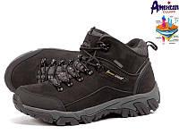 Черно-серые мужские зимние ботинки DARLENA