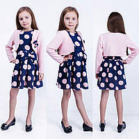 Детское стильное платье в горохи