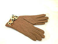 Перчатки шерстянные женские бежевого цвета