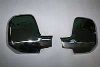 Хром накладки на Peugeot Partner 08-12 Накладки на зеркала Нержавеющая сталь.