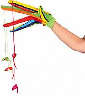 Игрушка для кошек Trixie плюшевая перчатка с 4 мышками