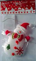 Новогодняя игрушка Мягкий Снеговик Подвеска 90626-PN Китай