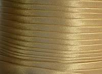 "Бейка косая ""Kotex""№8171-а(бежевый+золот) атласная 110 ярд. (100,60 м)"