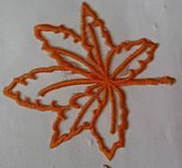 Вышивка клеевая Кленовый лист.