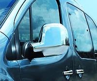 Хром накладки на Peugeot Partner 12+ Накладки на зеркала пластиковые