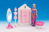 "Набор мебель для кукол Gloria 1209 ""Гардеробная комната"""