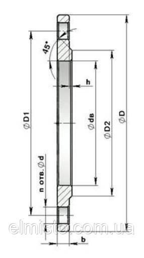 Сталевий фланець DN50