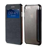 Черный чехол-книжка для Iphone 7 (5.5'')