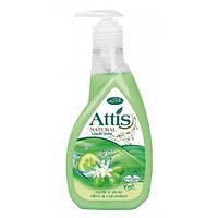 Мыло жидкое с глицерином Attis оливки с огурцом 400мл