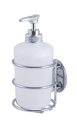 Дозатор для рідкого мила настінний на липучці AWD02091301